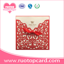 European elegent green card  banquet wedding invitation in paper crafts