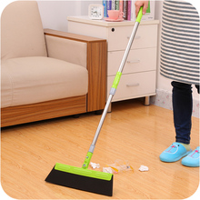 Magic Broom Sweep Dust Hair Bathroom Wiper Broom Rotate Connector Rubber Mop Cleaning Tool 180-degree rotating blade clean sweep(China)