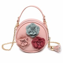 Exquisite Craft Round Shape Flowers Decoration Shoulder Bag Dating Daily Cross-body Woman Tote Handbag Anti-scratch(China)