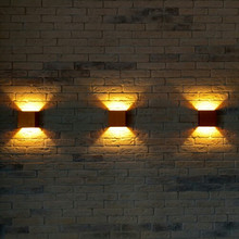 3PCS X Led Wall Lamp for TV Background Living Room Indoor Decorative Lights Cube Black/Silver/Gold Lampshade Up&Down Lights(China)