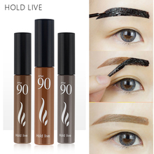 HOLD LIVE Waterproof Eyebrow Gel Easy To Wear Tint My Brows Cream Makeup Coffee Black Brown Eye Brows 3 Colors Eyebrows Stencil(China)