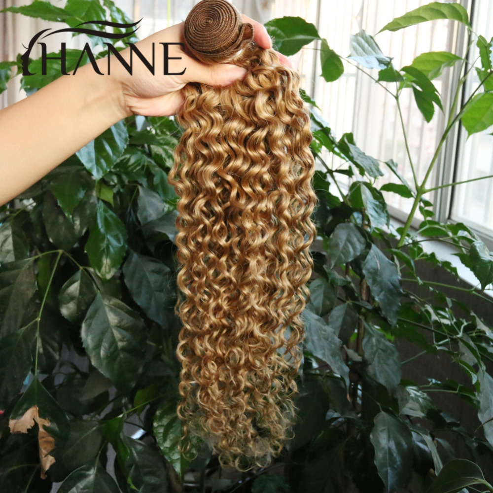 Mongolian kinky curly virgin hair 4 bundles honey blonde remy human hair weave afro kinky curly  #27 pure color human extensions<br><br>Aliexpress