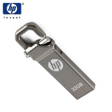 HP V250w Usb Flash Drive Usb 2.0 32GB Lanyard Key ring Stick Metal Memoria Pendrive Car Audio music Disk 32gb For Customize gift