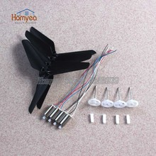 Syma X5SC X5SW Quadcopter RC Drone spare parts 4pcs motor + 4pcs Upgrade Blade + 4pcs Principal axis Gear part kit