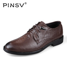 PINSV Genuine Leather Shoes Men Flats Spring Casual Oxford Shoes Men Luxury Brand Italian Mens Shoes Sapatos Masculino Size