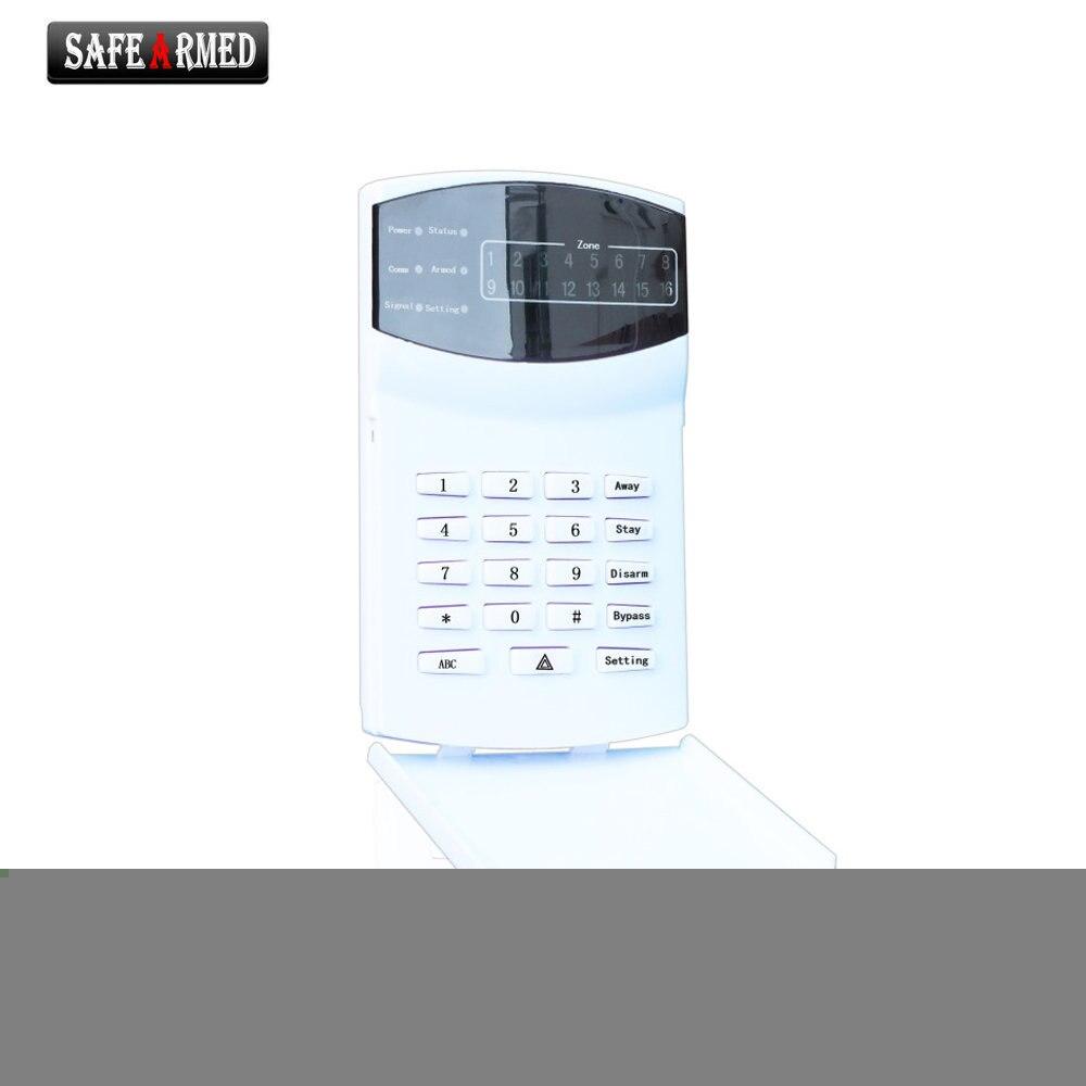Home security self-defense PSTN GSM SMS Alarm system LED keypad  SF-8016-16D-LED<br>