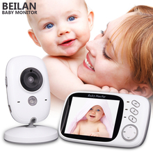 Baby Monitor 3.2 inch LCD IR Night Vision 2 way Talk 8 Lullabies Temperature bebe monitor digital video nanny radio babysitter