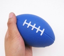 free shipping 13*8cm 3pcs/lot pu foam material football soccer stress ball,pu football toy,football squeeze ball(China)