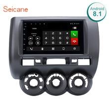 "Seicane 2din 7"" Touch Screen Car Multimedia Player Android 8.1 Bluetooth Car GPS Navi for 2002-2008 HONDA Jazz(Manual AC,RHD)(China)"