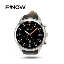 "Finow X5 Android 4.4 SmartWatch 1.4"" AMOLED Display 3G WiFi GPS Dual Bluetooth Smart Watch Clock Phone for iOS Android Phone"