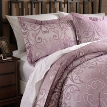 FreeShipping  Duvet Cover Set Microfiber  luxury Printed Rose Red Include Quilt Cover Pillow Cases Twin Queen King
