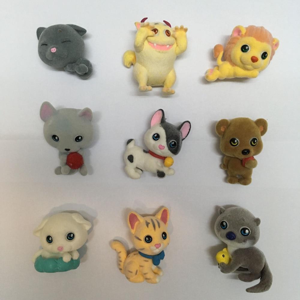 30pcs/set Flocking Aminal Doll Dog Cat Monster Action Figure Toys Kids House Doll <br><br>Aliexpress
