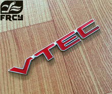 Red VTEC Full Metal Zinc Alloy Car Styling Refitting Emblem Fender/Tail Badge Sticker for Honda Civic Accord Odyssey Spirior etc