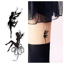Tattoo men women waterproof paper stickers leg Butterfly fairy angel girl Pattern make up fresh Body temporary tattoos Design