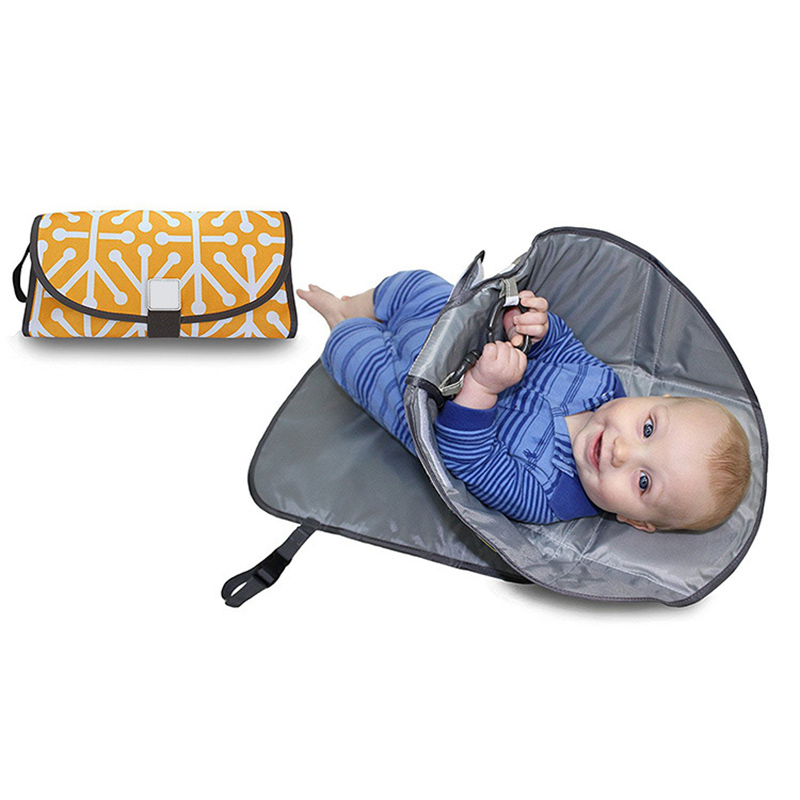 Baby Diaper Changing Pads Bag Waterproof Portable Nappy Mat Station Newborn Nappy Cover Bag Wipeable Clutch Hang Stroller BB3053 (5)