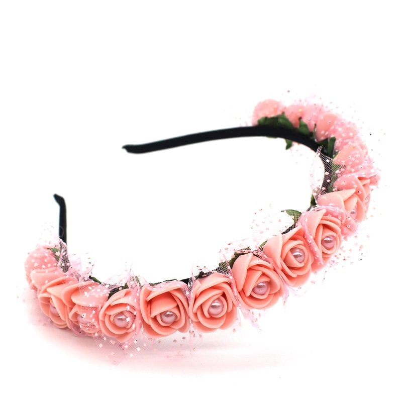Lanxxy 17 New Fashion Pearl Flowers Hairbands for Girls Women Wedding Bridal Hair Accessories Floral Headbands 17