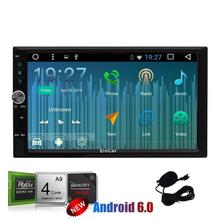 Android 6.0 GPS Car dvd Stereo 2Din 7'' In Dash GPS Navigation Vehicle Auto Radio automotive DVD 1080P Video WiFi External Micro