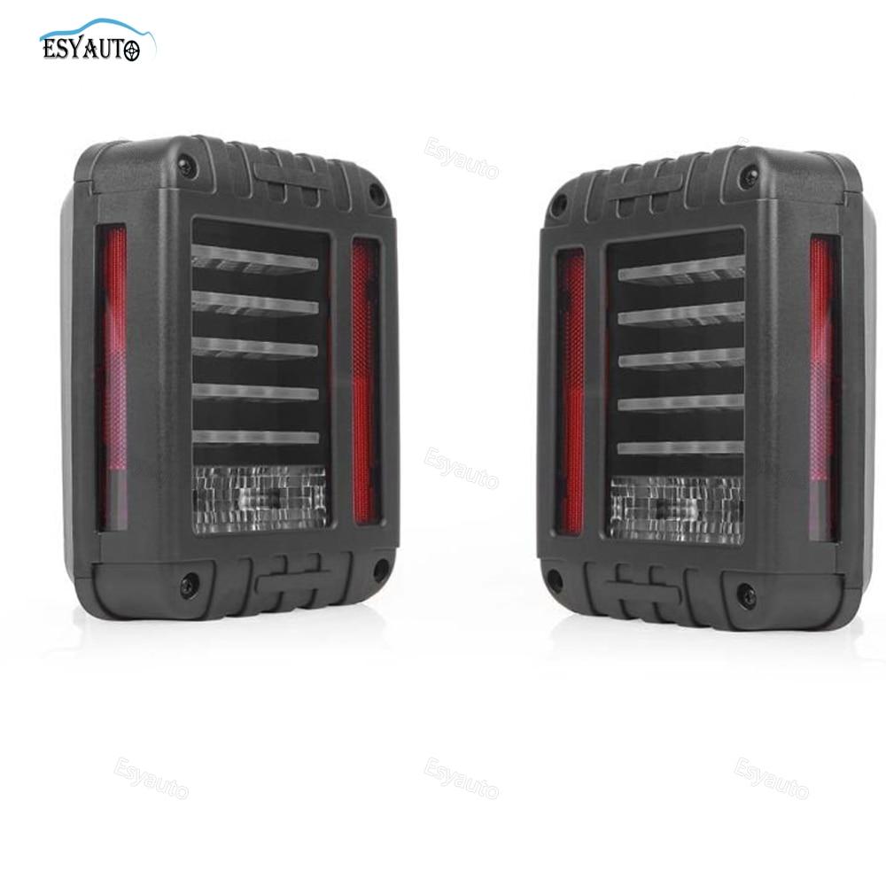 On sale! 2x Car LED Tail Lights Running Brake Light Reverse Backup Turn Signals Europe/US Version for Jeep Wrangler<br>