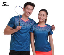 SEA PLANETSP 2017 New Sportswear sweat Quick Dry breathable badminton shirt , Women/Men table tennis Ping pong team T Shirts