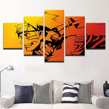 Canvas Paintings Home Wall Art HD Prints Posters 5 Pieces Anime Cartoon Naruto Pictures Children'S Room Decor Modular Framework