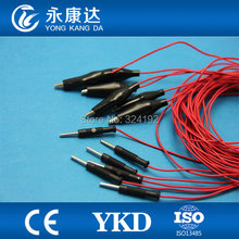 10pcs/pack Red  Brain leadwires for medical,Cup EEG cord,TPU cable,, CE&ISO13485 proved Manufacturer
