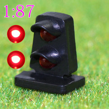 JTD872 5PCS HO scale LEDs made Dwarf Signals for Railway signal 2-3 Aspects Model Traffic Lights Traffic singal railway modeling