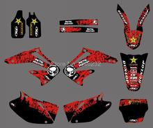 0172 Star New Style TEAM GRAPHICS&BACKGROUNDS DECALS STICKERS Kits for Honda CRF450R CRF450 2002 2003 2004