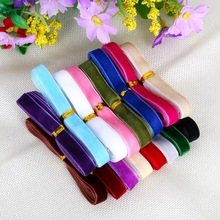 10mm Random Mix Color Options Velvet Ribbon Velour Webbing Headband Hair Band Accessories White Lace Fabric 12y/lot(1y/color)