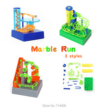 DIY marble amaze ball run assembled building blocks,The Saucer-Electronic with music&light desktop toys 3 styles maze balls