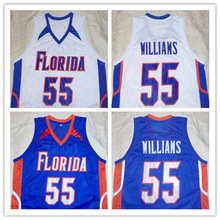 #55 Jason Williams Florida Gators Blue College Basketball Jersey Any Size(China)