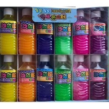 Mineral water bottle new peculiar trick toy colored sand skin glue nose clay crystal mud jelly slime Creative color plasticine