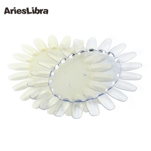 AriesLibra HOTSALE Oval Nail Art Display Chart Natural/Clear Wheels 20 Tips Trainers Practice Ellipse Plastic Gel Polish Plate