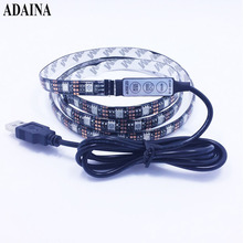 0.5/1/2M DC5V RGB Dimmer Flexible Led Strip Light IP65 TV Diode Tape SMD5050 60Chips/M Led Light Outdoor Home Decor Ledstrip(China)