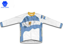 Argentina Flag Winter Bicycle Thermal Cycling Long Sleeve Jerseys Breathable Cycling Winter Clothing(China)