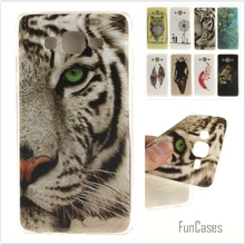 Cartoon Owl Tiger Lion Painted Glossy Soft TPU IDM  Silicon Back Cover Protective Mobile phone Case for Samsung Galaxy On7 O7