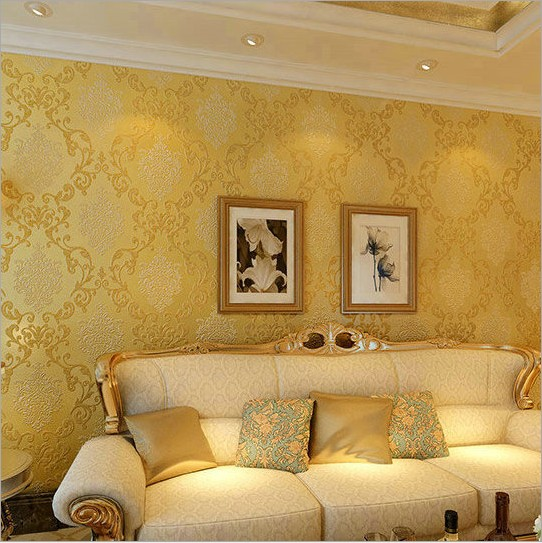 High-class european-style 3 d non-woven wall sticker environmental protection special background sitting room bedroom wall paper<br>