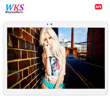 Newest  waywalkers M9 4G LTE Android 6.0 10.1 inch tablet pc octa core 4GB RAM 64GB ROM Tablets phone computer 1920*1200 MT8752