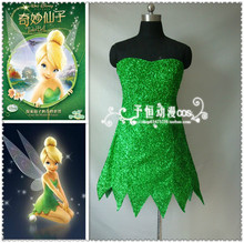 Custom-made Tinkerbell Costume Tinker bell Dress Peter Pan Cosplay Costume Dress