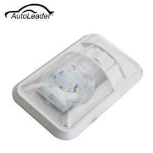 AutoLeader White 24 LED Roof Ceiling Interior Reading Dome Light For Camper Car RV Boat Trailer 12V DC 2835SMD 4500K(China)