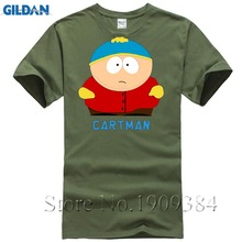 South Park Anime Fashion T-Shirt Cartman Print Novalty Homme T Shirt Summer Style 100% Cotton Streetwear Loose Short Sleeve Tops(China)