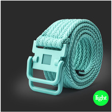 Fashion Accessories Cummerbund Braided Wax Rope Long Men Trendy Belts Men Cummerbunds 100% Cotton Canvas Web Metal Buckle Belt