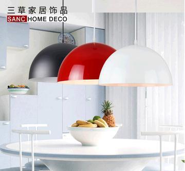 Modern aluminum hemisphere pendant light 30cm diameter brief restaurant bar lighting pendant light<br>