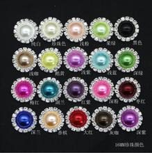 100 Pieces 16MM Metal Crystal Rhinestone Buttons FlatBack Embellishment Button for Invitation DIY Wedding Decoration and apparel