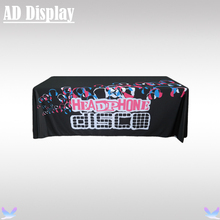 Exhibition 6ft Loose Fit Table Cover Printing,Trade Show Booth Advertising Table Cloth,Table Throw Four Side Full Color Printing(China)