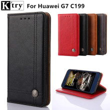 K'try Case For Huawei G7 C199 Case Book Flip Style Mobile Phone Case For Huawei G7 C199 5.5'' Wallet Cover