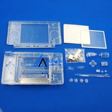 Transparent Clear Full Housing Case for DS Lite DSL Shell Cover with Screwdriver
