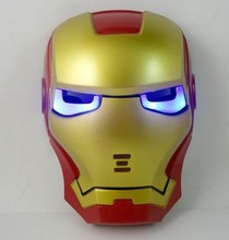 Firm package iron man masquerade ball park Halloween carnival Mask,glowing with led light Iron Man mask Z001(China)