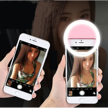 Led Selfie Lamp Ring Light Portable Flash Camera Phone Photography Ring Light Enhancing Photography for IPhone Samsung Xiaomi(China)