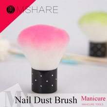 MSHARE 1PC Pink Nail Brush For Acrylic & UV Gel Nail Polish Art Decor Nails Dust Cleaner Nail Art Tools