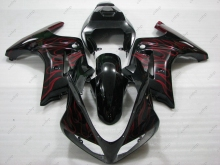 Fairing SV1000 2005 Full Body Kits SV1000 2004 2003 - 2013 Black Red Flame Fairings SV 650 2004(China)